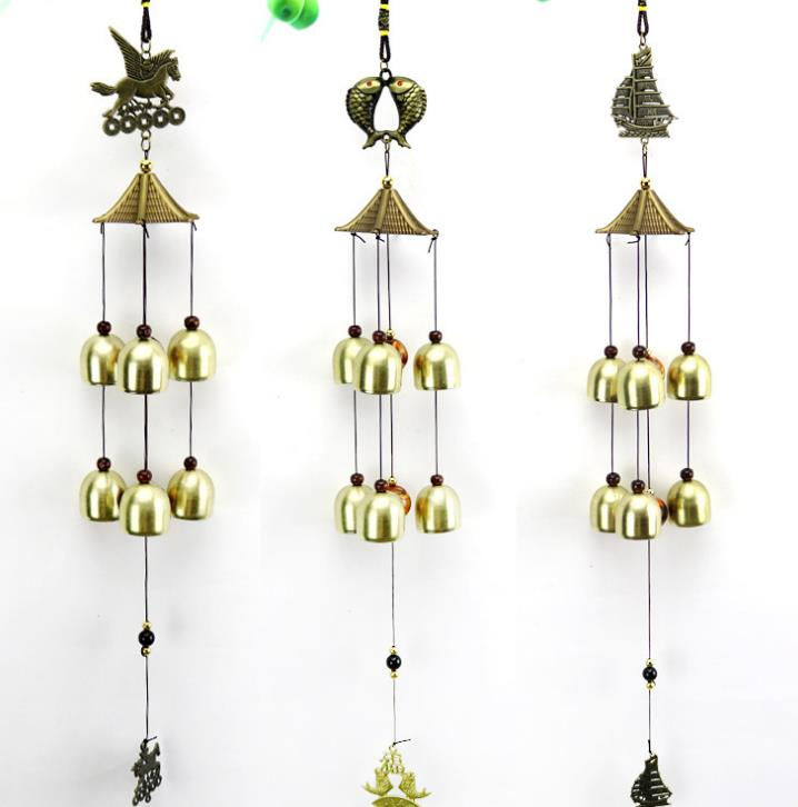 Wind Chimes Yard Antique Amazing Garden copper Bells Windchimes hanging decorations(China)