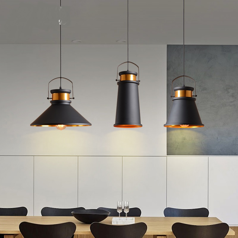 Loft American style retro industrial style Pendant Lights metal iron cover bar counter single head aluminumceiling pendant lamps american country industrial style wheel pendant lamps with 6 lights retro loft metal pendant light for bar home living lights