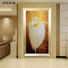 Zozack – ensembles de Ballet, couture, bricolage, points de croix DMC pour kit de broderie 11ct, décoration en fil de soie de coton imprimé