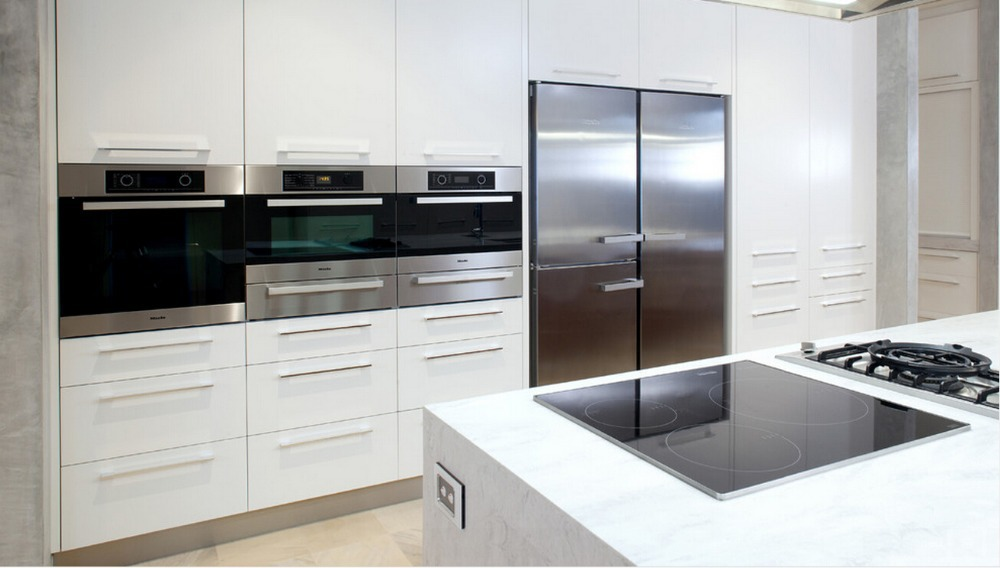 US $150.0 |2017 nuovo disegno superiore produttori di mobili per cucina  unità di cucina modulare armadio da cucina moderna-in Accessori e ricambi  per ...