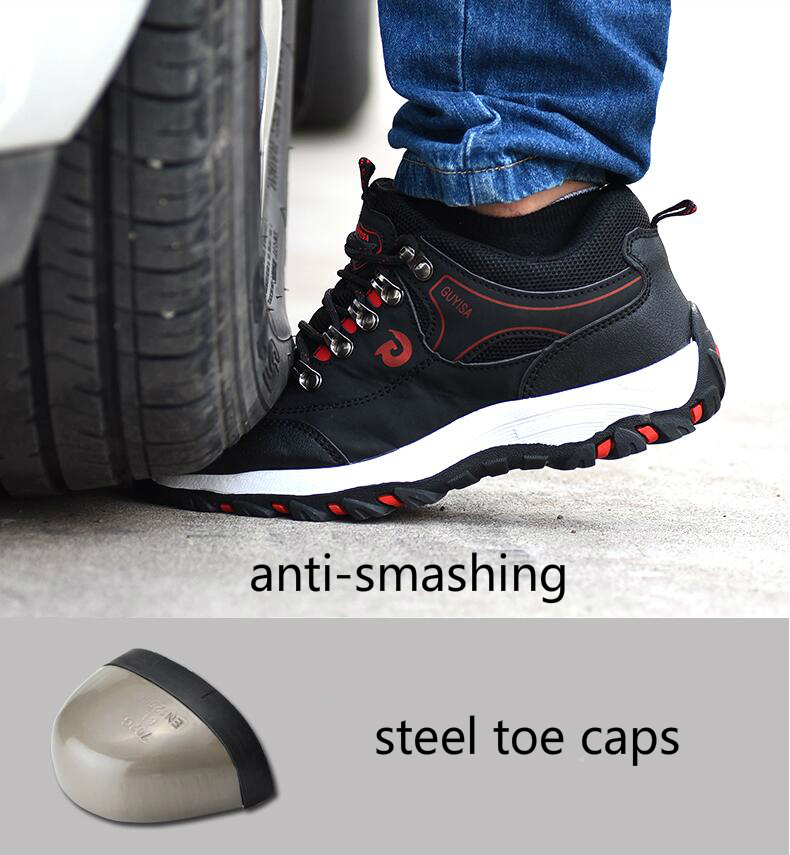 614f98d8e8f Men S Leisure Comfortable Steel Toe Caps Work Safety Shoes Anti ...