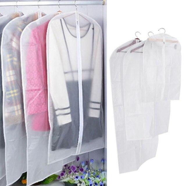 3 boyutları Şeffaf Elbise Koruyucu saklama çantası Asılı Konfeksiyon Takım tozluk Dolap Organizatör Kadın Elbise saklama çantası