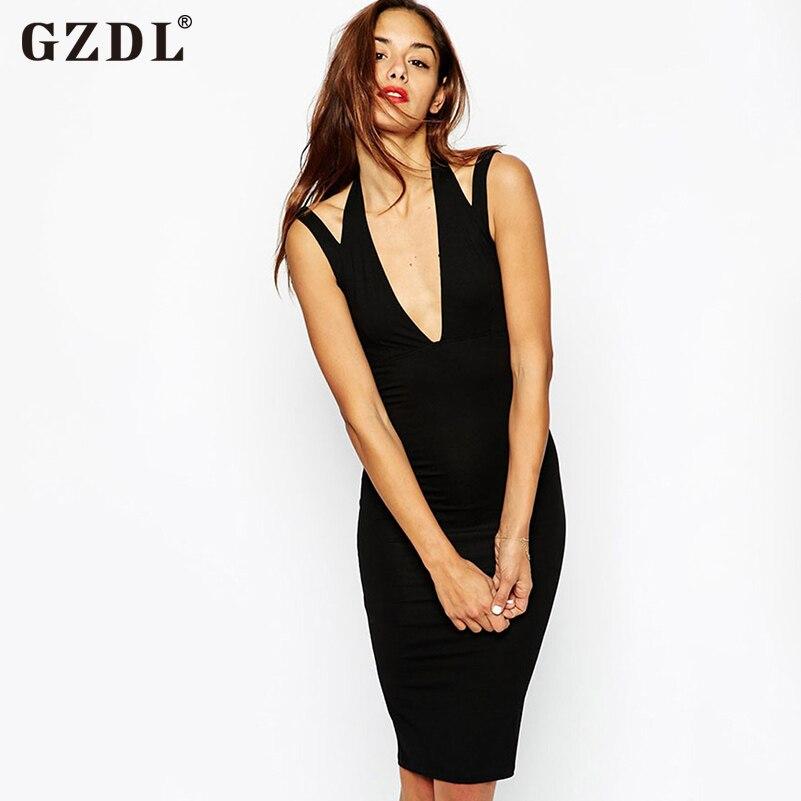 dc8e4144389 Gzdl Мода Bodycon спинки оборками Твердые Платья для вечеринок Vestido без  ...