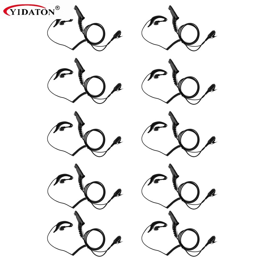 10 stks Nieuwe Ear Loop Oortje w / PTT voor Motorola APX4000 APX2000 APX6000 XPR6300 DP4800 DP3400 MTP6550 XIR P8200 P8268