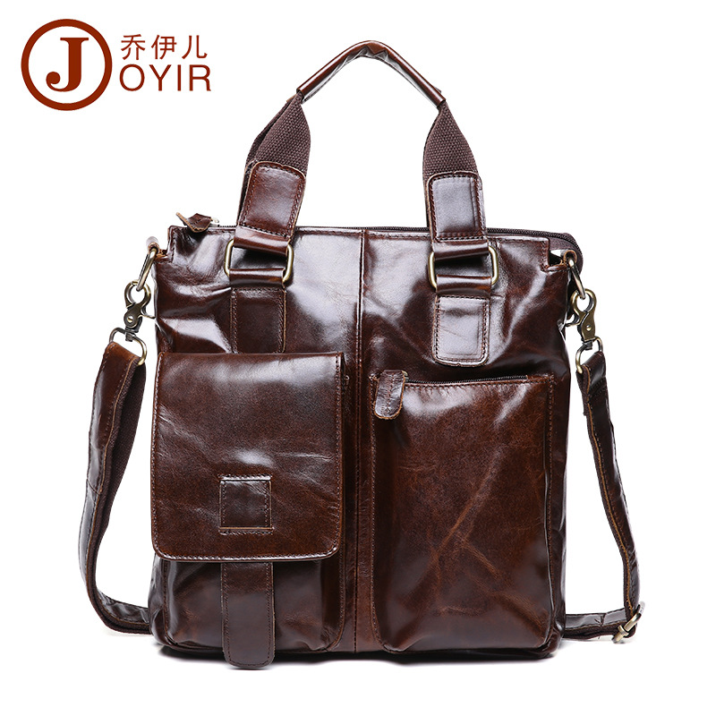 2017 Genuine Leather Men Bag Briefcase Fashion Man Business Handbag Men's Messenger Bags Brand Male Shoulder bag Tote Sac a dose men and women bag genuine leather man crossbody shoulder handbag men business bags male messenger leather satchel for boys