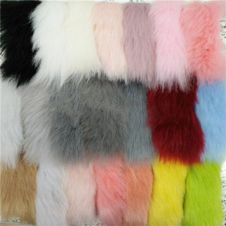 Standard haute qualité renard doux haute gramme renard doux simulation fourrure de renard fourrure artificielle vêtements tissu de jouet
