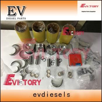 Per Kubota Engine Rebuild Kit V3800 V3800T V3800-DI-T Pistone + Anello + Cilindro + Guarnizione + Cuscinetto Motore + Valvola Sede Di Guida