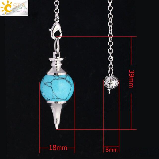 Csja волшебный маятник для удачи натуральный камень кристалл