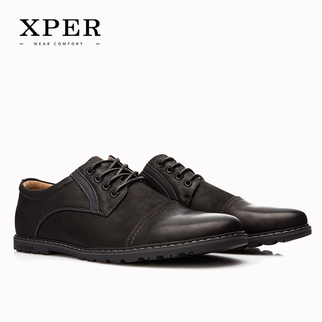 2016 XPER Brand Shoes Men Casual Shoes Lace-up  Sporty Men Flats Shoes Breathable Business Shoes Black Brown YM86825BN/827BL