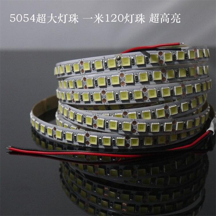DC12V 5 m 5054 SMD RGB LED Bande Lumière 120LED/30mwaterproof ip65 Lumière Flexible Ruban Double PCB Led Stripe Bande mieux que 5050