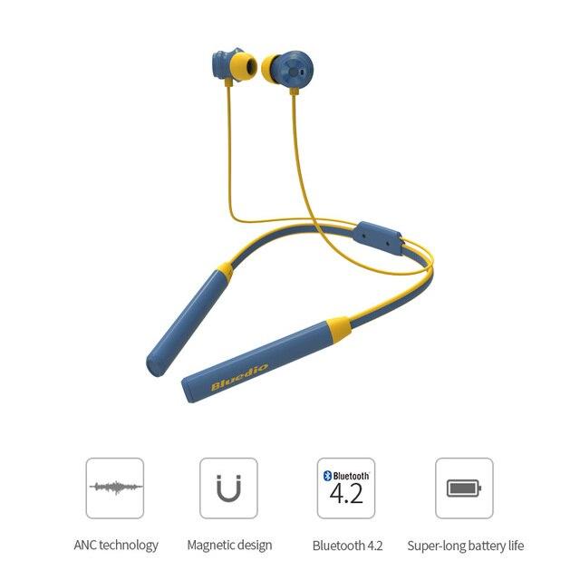 Оригинальный Bluedio TN/2 Bluetooth наушники с микрофоном Active шум шумоподавления спортивные беспроводной гарнитура модные спортивные наушники