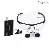 2.5X LED Light enlarge glasses surgical magnifying medical binocular loupes optical Dentist magnifier surgery loupe