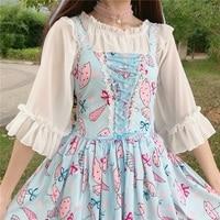 Super Cute Doughnut Sweet House Pink JSK Lolita Dress Fairy Cute Sleeveless Bows Fancy Dolly Dress