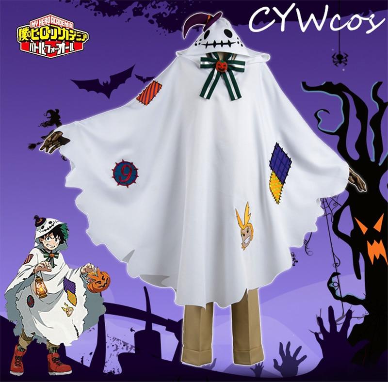 Us 105 95 Anime Cosplay My Hero Academia Izuku Midoriya Deku Cosplay Costume Halloween Costumes Suits Pants Cloak Headdress Socks In Anime Costumes