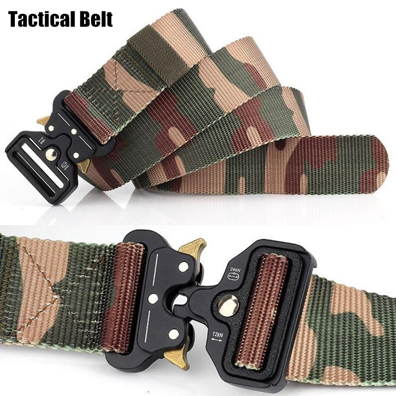 Adjustable Nylon Military Tactical Belt Buckle Sports Combat Training Waistband
