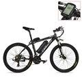 26-дюймовый электрический велосипед  400 Вт 48В мощная мощность  съемный литиевый аккумулятор  Запираемая подвеска вилка  педаль помощи E-bike