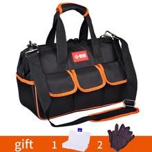 """Torba na narzędzia 12 """"17"""" 19 """"zagęścić 1680D Oxford tkaniny torba do pracy Top szerokie usta profesjonalny elektryk Toolkit torby Organizer na narzędzia"""