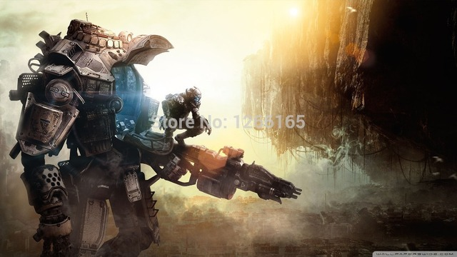 US $12 99 |D2 Titanfall 2014 wallpaper New Wall Art Huge Wide Games Posters  50x75cm Free Shipping-in Wall Stickers from Home & Garden on