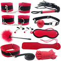 10piece/ Set  Sex Bondage Fetish Kit Restraints Slave Sex Toys for Couple Bondage Handcuffs Fun Adult Games Sex Tools