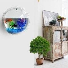 new home decoration pot plant wall mounted hanging bubble fish bowl acrylic bowl fish tank aquarium