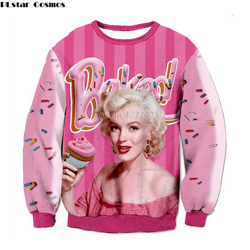 438132c0faaf Super star Lana del rey Marilyn monroe print 3D sweatshirt fashion aaliyah hoodies  Harajuku Pullover women moleton