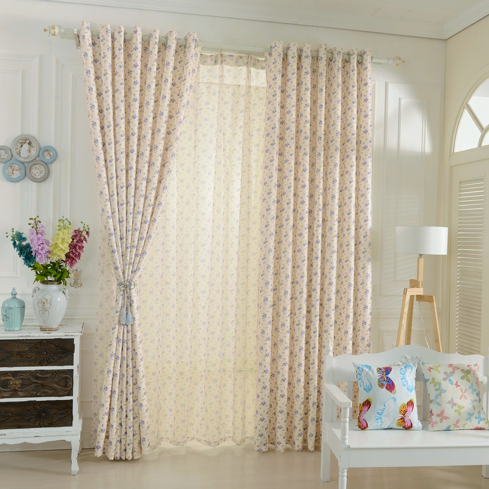LOZUJOJU Short Window Curtains For Bedroom Window Drapery Floral Design  Rustic Blackout Curtains Tulle Curtains Girlu0027s Bedroom In Curtains From  Home ...