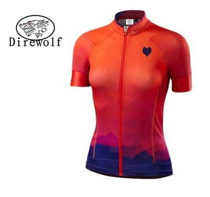 Prix pour DW 2016 Pro Femmes de Vélo Clothing Vélo Sportwear Fille Vélo Jersey Top Respirant