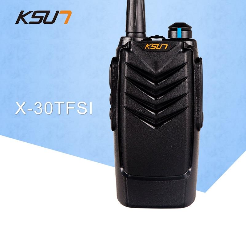 1 PCS KSUN X 30TFSI Two Way Radio Handheld Portable Radio UHF 400 470MHz Ham Radio BUXUN X30 Walkie Talkie in Walkie Talkie from Cellphones Telecommunications