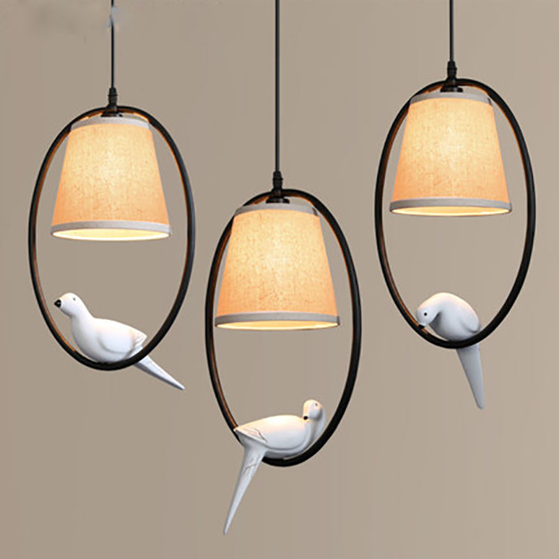 где купить Birds Pendant Lamps American Village Mediterranean Restaurant Living Room Bedroom Restaurant Balcony Aisle Entrance Pendant Lamp по лучшей цене
