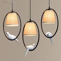 Birds Pendant Lamps American Village Mediterranean Restaurant Living Room Bedroom Restaurant Balcony Aisle Entrance Pendant Lamp
