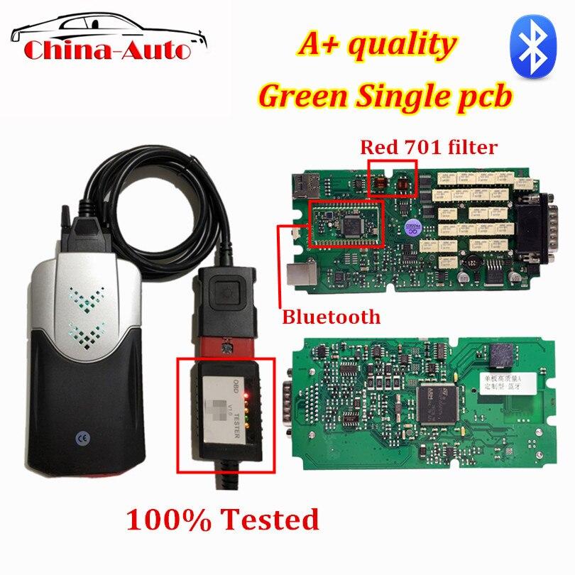 Nouveau design OBDIICAT-CDP Bluetooth NEC relais TCS Pro vert simple carte pcb obd2 scanner 2016.00 avec outil de diagnostic Keygen