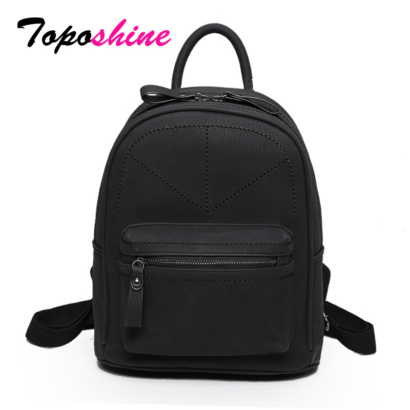 Toposhine Retro Backpack Bag School-Bags Teenagers Medium Mochila Feminina PU Women