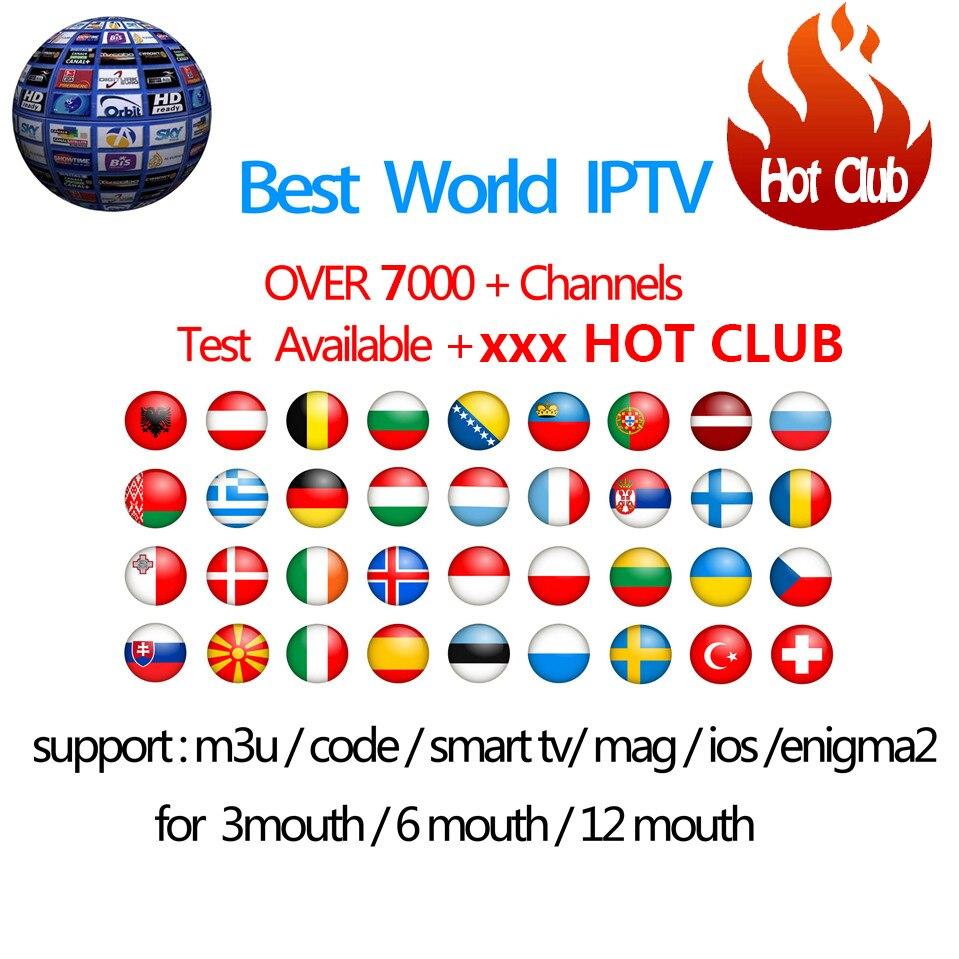 Hotclub IPTV Abonnement Android TV Box + Europa Schweden Arabisch Französisch Italien Deutschland UK xxxHotclub M3U Enigma2 Smart TV Mag tv box