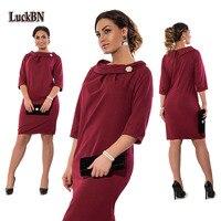 5XL 6XL Large Size Dress 2017 Spring Autumn Dress Big Size Casual Vestidos Print Straight Dress