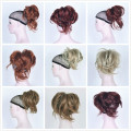 Women Black Brown Gold Red Wine Blonde Synthetic Short Curly Ponytail Pony Tail Law Clip in/on Hair Extension Hairpieces