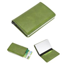 Buy green credit card and get free shipping on aliexpress top quality metal card case men women automatic leather business card holder hombre id card paperwork colourmoves Choice Image