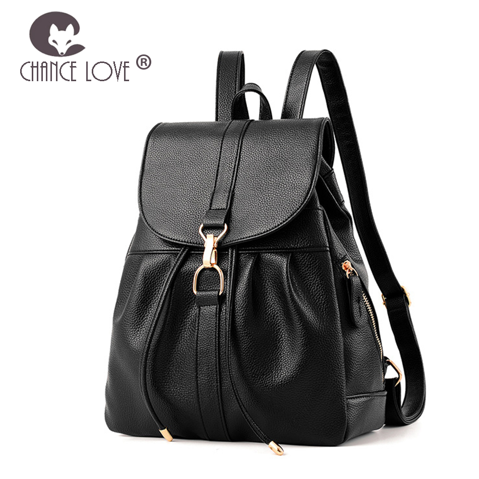 0e0827d8f3 Chance Love 2018 Womens bag ladies Genuine leather backpack fashion  three-point zipper oil wax luxurious backpack