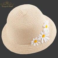 2018 Nowy Marka Lato słoma Kwiat Słońce kapelusz dzieci Plaża Słońce kapelusz Filcowy Kapelusz panama? czna dla dziewczyny Dzieci Dziecko Kapelusz Dzieci Cap