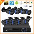 Kit Sistema de Vigilância PoE IEEE802.3af 48 V 8 Canais PoE Câmera 1080 P Sistema de CCTV 8 PCS 1080 P Câmera IP PoE + 1 PCS 8CH PoE NVR