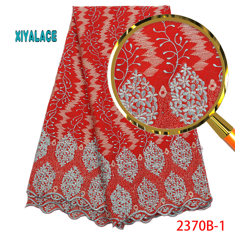 African Lace Fabric French Lace 2019 Nigerian  High Quality Voile Lace Fabric  New Wedding Dress Swiss Voile Lace YA2370B-1