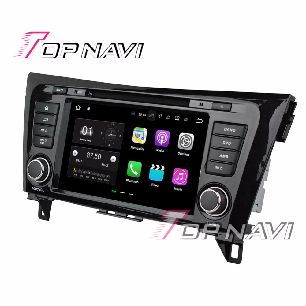 Topnavi 8 Android 7.1 Auto DVD Players for Nissan QashQai X-Trail 2014 Automotive Vehicle Video Audio Free Map Update Media