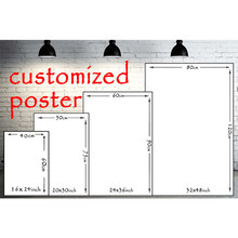 Custom Canvas Poster High Quality Fabric Cloth Print for Home Decor Any size Customized Wall Picture Art DIY Frame Posters(China)