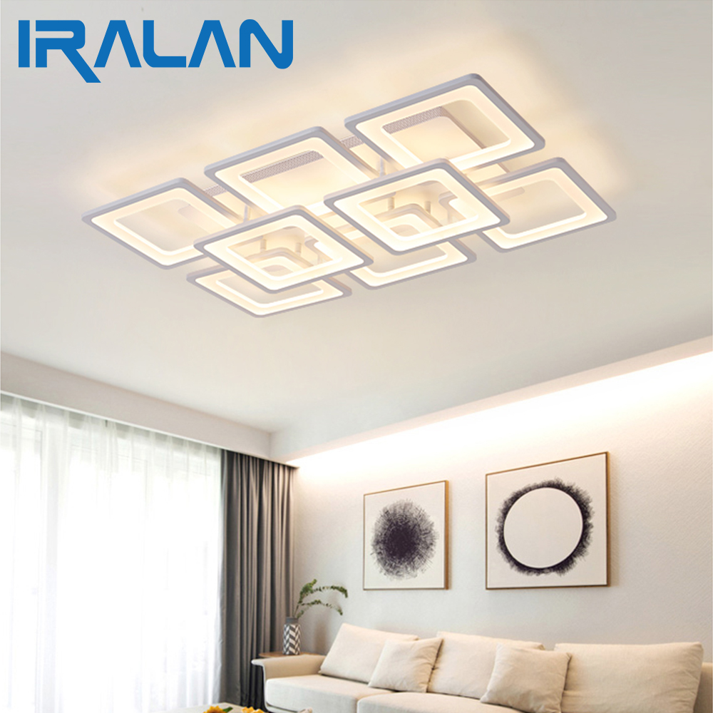 2018 IRALAN Acrylic Modern led ceiling lights for living room bedroom dining room home ceiling lamp lighting light fixtures
