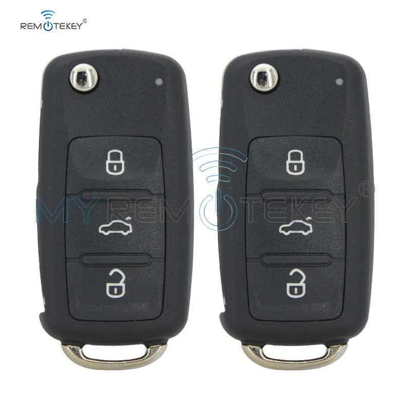 Remtekey 2 шт. флип автомобиль дистанционного ключа для VW Beetle, Golf, jetta Eos Polo Tiguan ID48 434 МГц 2011-2013 HU66 3 кнопки 5K0 837 202 AD