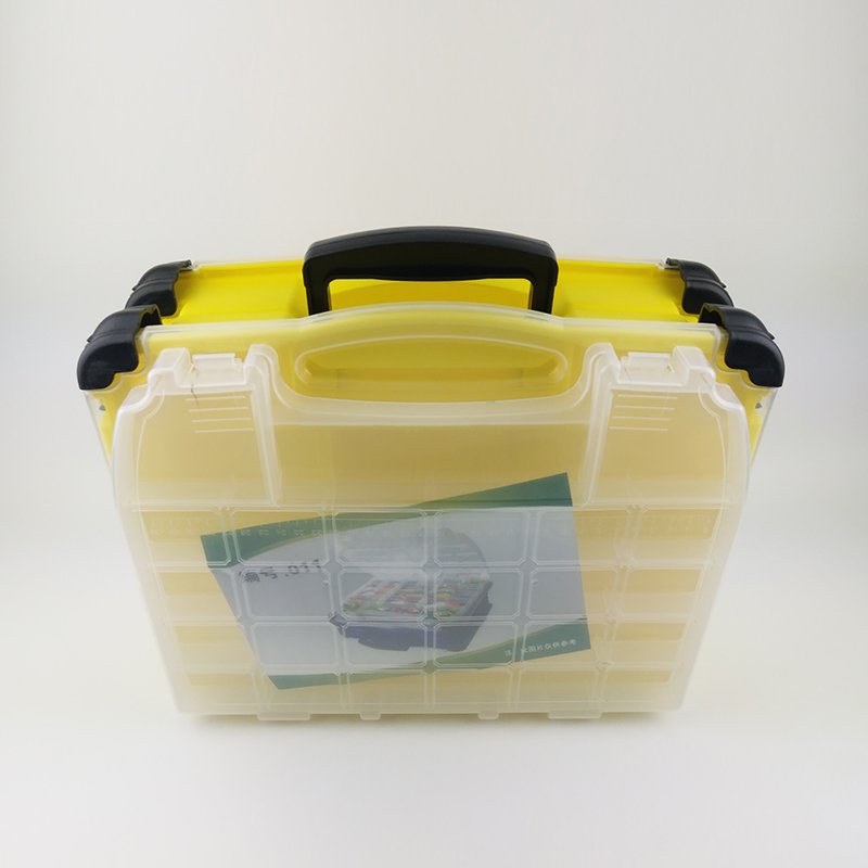 SHOUDIAO Multi Functional Casella di Pesca Pesce Esca Box ad Alta resistenza 42*20*35 cm di Plastica Trasparente Accessori Box - 3
