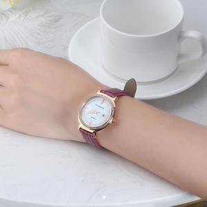 Image 3 - ORSA klejnoty luksusowe kobiety na rękę bransoletka do zegarka wodoodporny panie kwarcowy zegarki z prawdziwej skóry kryształ kamień pasek do zegarka Reloj OOW07
