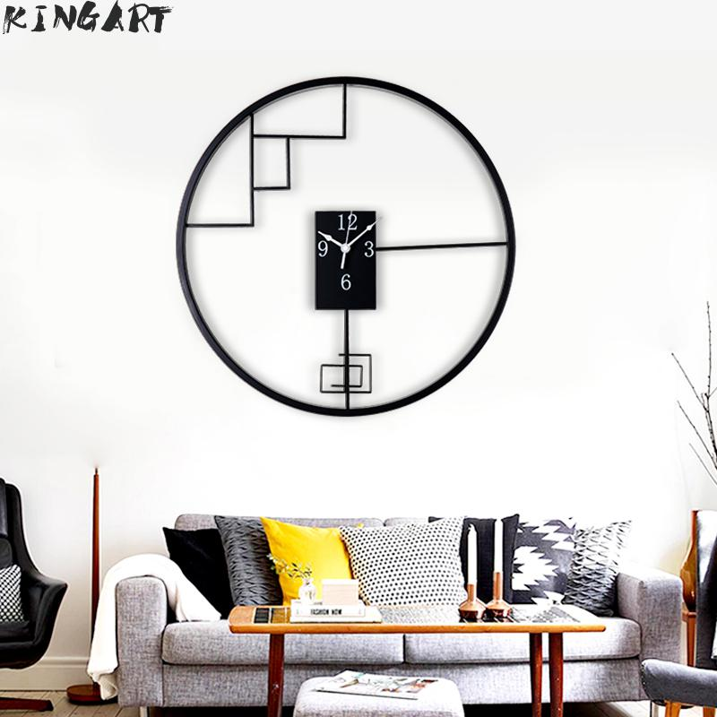 Living Room Metal Wall clock Round Big Hanging Clock Bedroom Decorative Wall Watch Chinese Style Large Wall Clock For Home DecorLiving Room Metal Wall clock Round Big Hanging Clock Bedroom Decorative Wall Watch Chinese Style Large Wall Clock For Home Decor