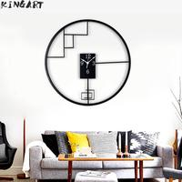Living Room Metal Wall clock Round Big Hanging Clock Bedroom Decorative Wall Watch Chinese Style Large Wall Clock For Home Decor