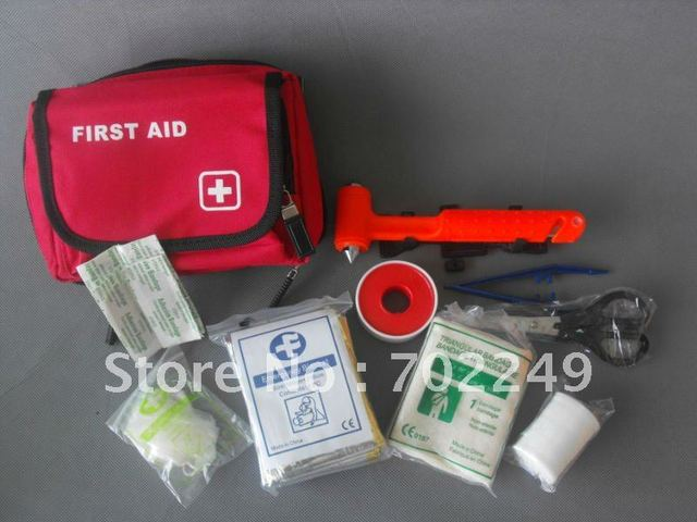 wholesale gift for car and outdoor first aid bag which uesd auto first aid and outdoor travel emergency