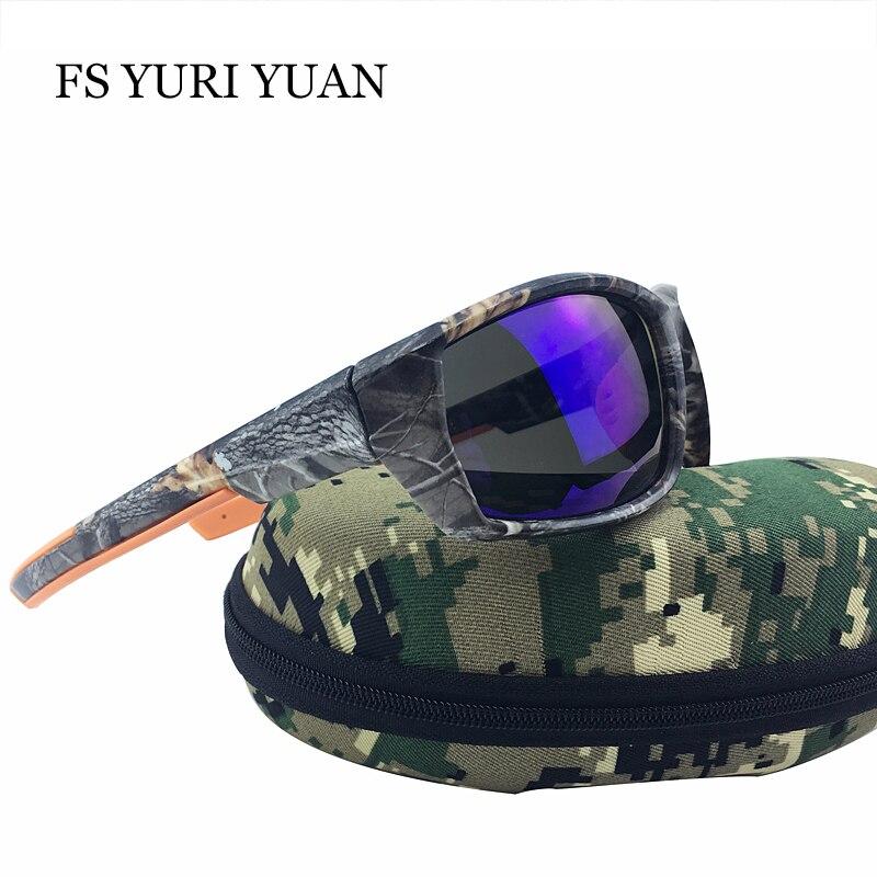 FS YURI YUAN New Men Polarized Sunglasses Fashion Camouflage Frame Goggle Sun Glasses Driver UV400 2017 Hot Best selling